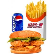 Mega Chicken Burger Meal