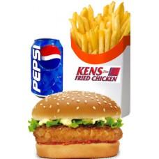 Chicken Fillet Burger Meal