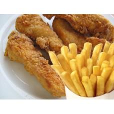 4 Chicken Fillet Strips & Fries